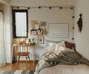 bedroom, home, and homestyle image