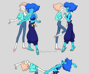 pearl, lapis lazuli, and steven universe image