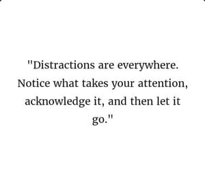 distraction and let it go image