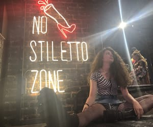 grunge, neon sign, and outfits image