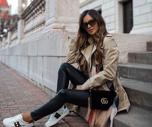 blogger, gucci bag, and Burberry image