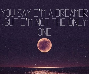 dreamer, moon, and quotes image