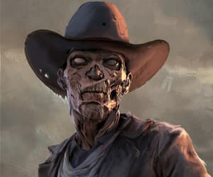 cowboy, undead, and macabre image