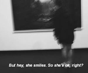 sad, grunge, and smile image