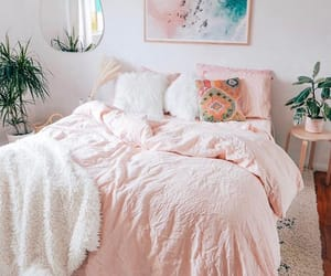 apartment, bed, and bedding image