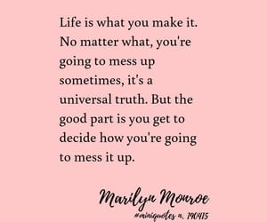 Marilyn Monroe, quote, and life live image