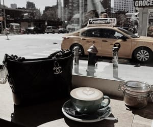 bag, car, and coffee image