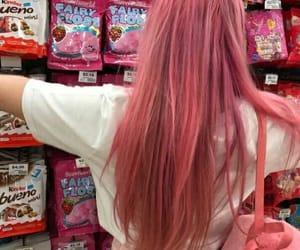 девушка, волосы, and еда image