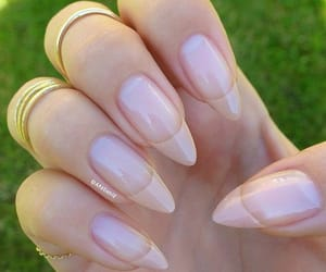 coffin french tip nails image