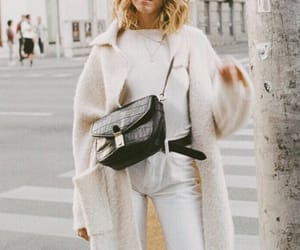 bag, blonde, and coat image