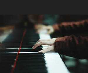 life, piano, and be happy image