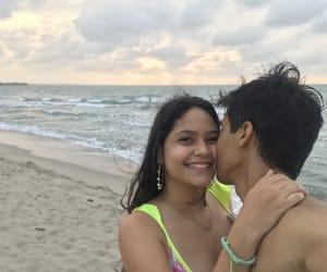 beach, couple beach, and beach day image