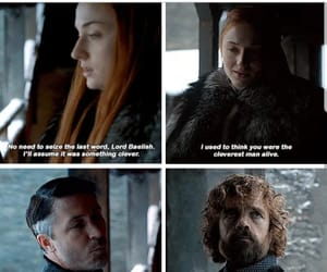 game of thrones, sansa stark, and tyrion lannister image