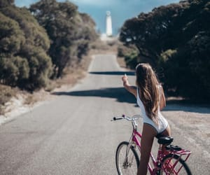 bicycle, indie, and long hair image