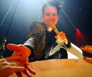 brendon urie, happy, and panic ! image