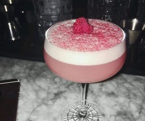 coctail, raspberry, and drink image
