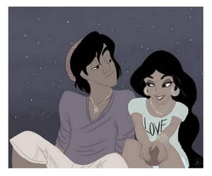 aladin, couple, and disney image