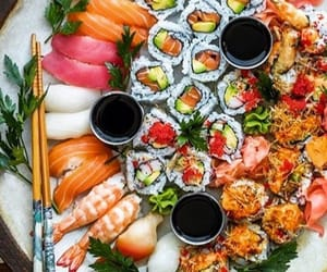 food, japan, and roll image