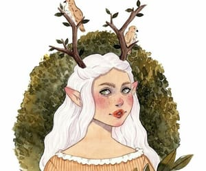 background, boho, and deer image