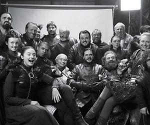 got, game of thrones, and black and white image