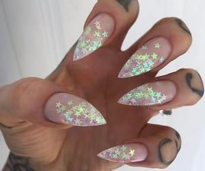 stars, glitter, and nail art image