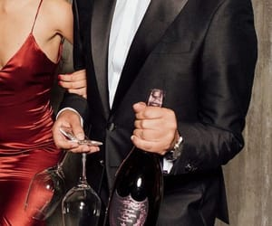 couple, champagne, and luxury image