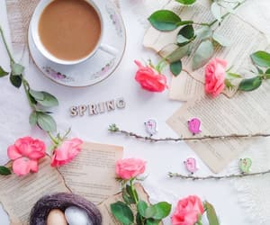 coffee, eggs, and roses image