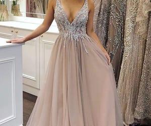 dresses, evening dress, and long dress image