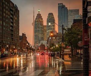 city and rain image