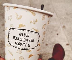 coffee, girl, and love image