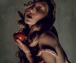 apple, eden, and serpent image
