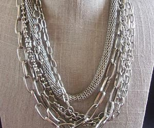 adjustable, chain necklace, and silver necklace image