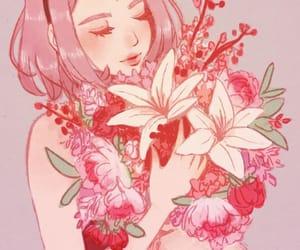 sakura, anime, and anime girl image