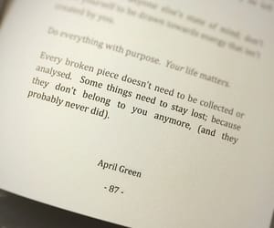 book, quotes, and april green image