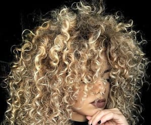 blonde, curly, and chic image