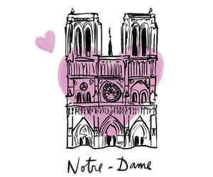 notre dame, fire, and france image