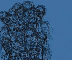blue, art, and people image