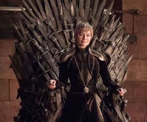 game of thrones, iron throne, and cersei lannister image