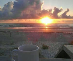coffee, sea, and summer image