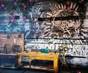 graffiti, new dawn, and skull image