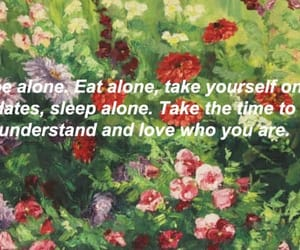 alone, art, and flowers image