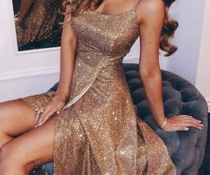 dress, glam, and glamorous image