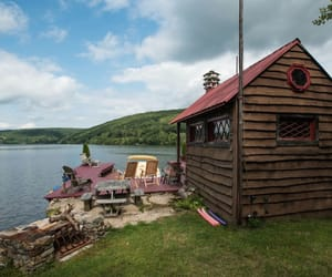 cabin, peace and quiet, and peaceful image