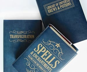 spells, blue, and harry potter image