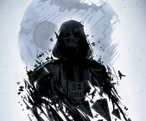 dark side, darth vader, and star wars image