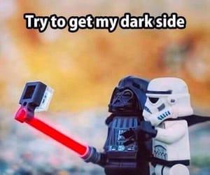 dark side, empire, and darth vader image