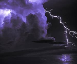 lightning, night, and purple image