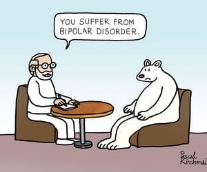 bipolar, illustration, and caricatura image
