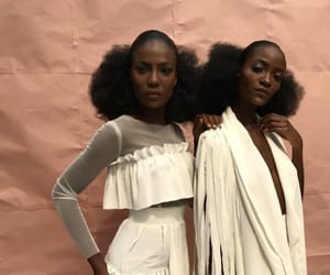 black hair, black model, and brown skin image