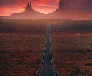 road, arizona, and colors image